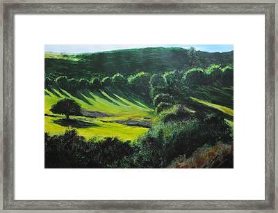 Towards Corwen Framed Print