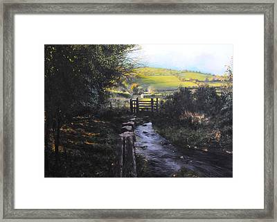 Towards Llanferres Framed Print