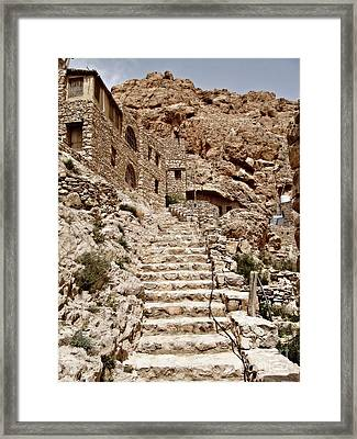 Towards Mar Musa Framed Print