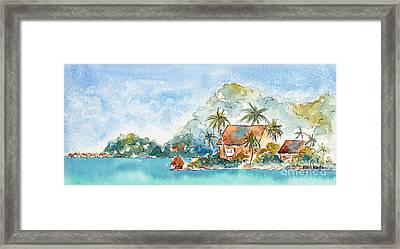 Towards Raititi Point Framed Print by Pat Katz