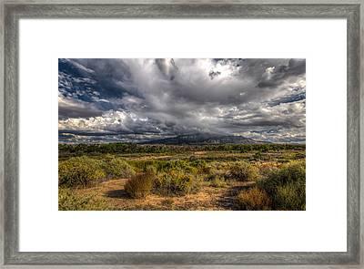 Towards Sandia Peak Framed Print