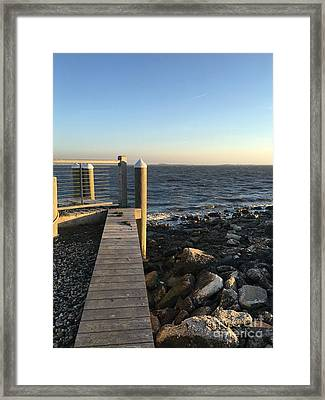 Towards The Bay Framed Print