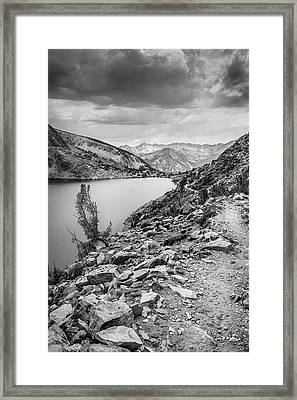 Framed Print featuring the photograph Towards The Silver Divide by Alexander Kunz