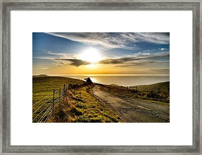 Towards The Sunset Framed Print