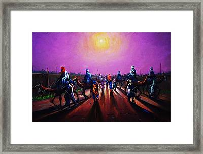 Towards Zaria Framed Print by Aderonke ADETUNJI
