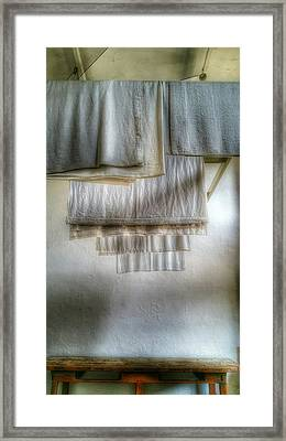 Towels And Sheets Framed Print
