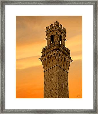 Tower Aglow Framed Print by Sue  Brehant