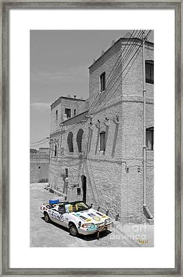 Framed Print featuring the photograph Tower And Car by Sascha Meyer
