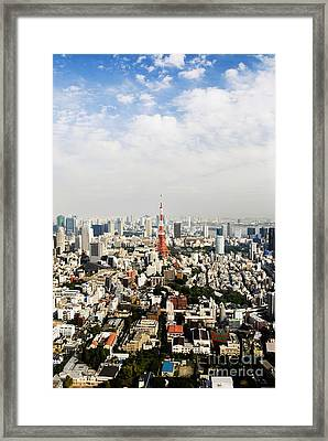Tower And City View Framed Print by Bill Brennan - Printscapes