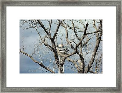 Framed Print featuring the photograph Tower And Trees by Valentino Visentini