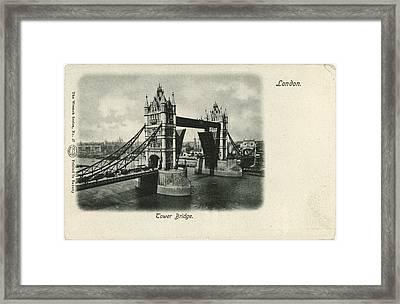 Tower Bridge Across The Thames In London Framed Print by Gillham Studios