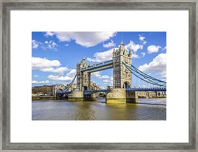Tower Bridge Framed Print by Angela Aird