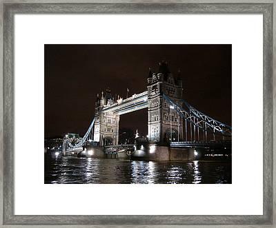 Tower Bridge By Night Framed Print