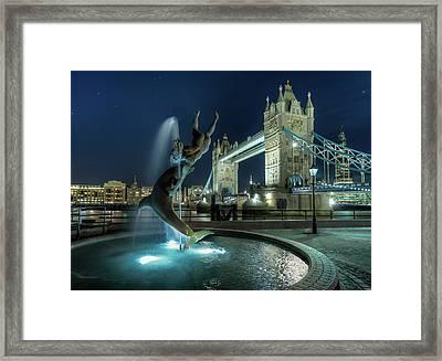 Tower Bridge In London Framed Print