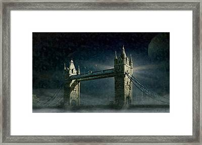 Tower Bridge In Moonlight Framed Print