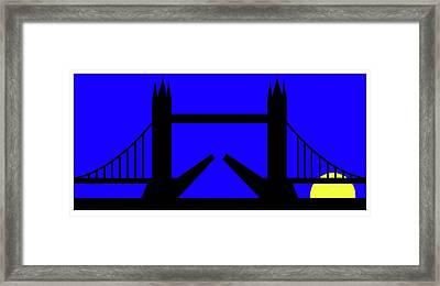 Tower Bridge In The Morning Framed Print by Asbjorn Lonvig