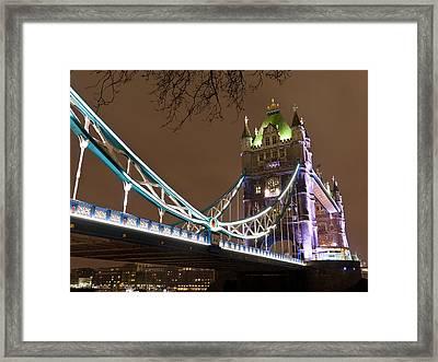 Tower Bridge Lights Framed Print by Rae Tucker