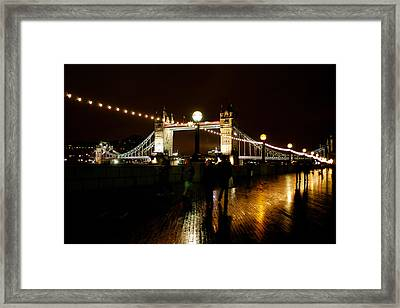 Framed Print featuring the photograph Tower Bridge  London by Jane Melgaard