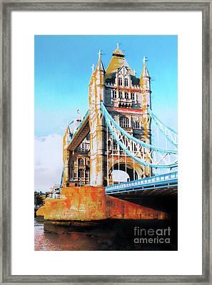 Tower Bridge Framed Print by Nica Art Studio