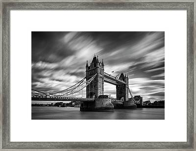 Tower Bridge, River Thames, London, England, Uk Framed Print