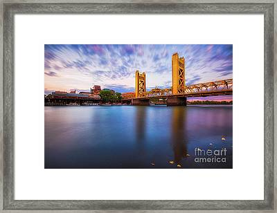 Tower Bridge Sacramento 3 Framed Print