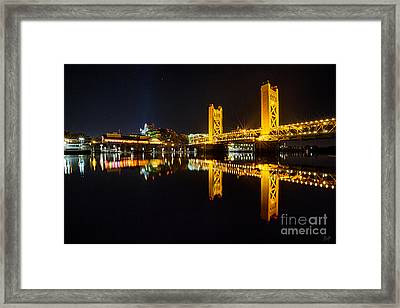 Tower Bridge Sacramento Framed Print