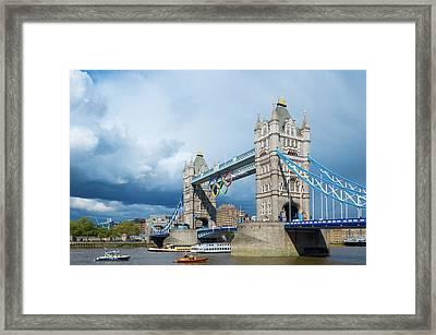 Framed Print featuring the photograph Tower Bridge by Stewart Marsden