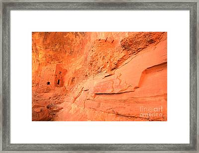 Tower House In The Cliff Framed Print