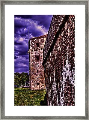 Tower Nebojsa Fortress Kalemegdan Belgrade Framed Print by Milan Karadzic