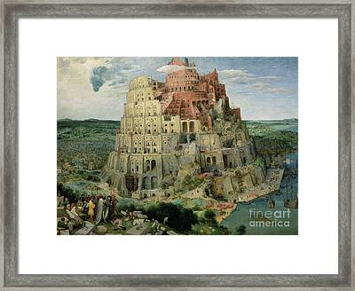 Tower Of Babel Framed Print by Pieter the Elder Bruegel