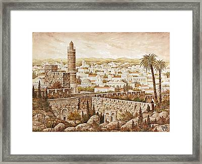 Tower Of David Framed Print by Aryeh Weiss