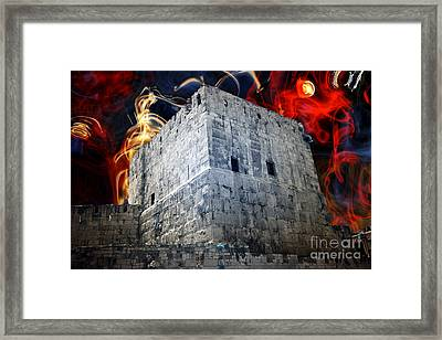Tower Of David Design Framed Print by John Rizzuto