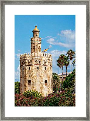 Tower Of Gold Framed Print