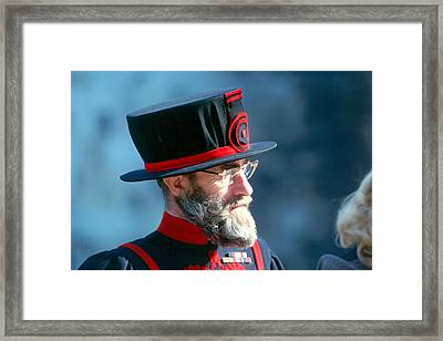 Tower Of London Guard Framed Print by Douglas Pike