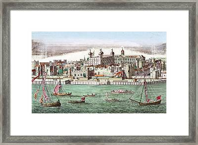 Tower Of London, Historical Artwork Framed Print by Miriam And Ira D. Wallach Division Of Art, Prints And Photographsnew York Public Library