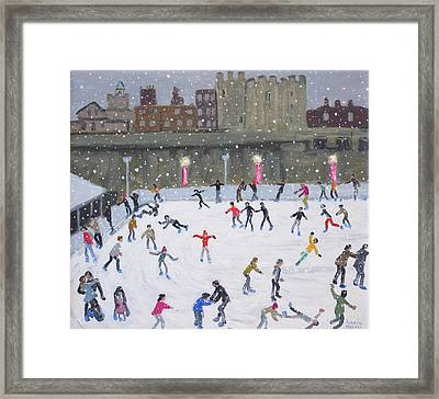 Tower Of London Ice Rink Framed Print