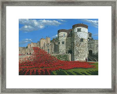 Tower Of London Poppies - Blood Swept Lands And Seas Of Red  Framed Print by Richard Harpum