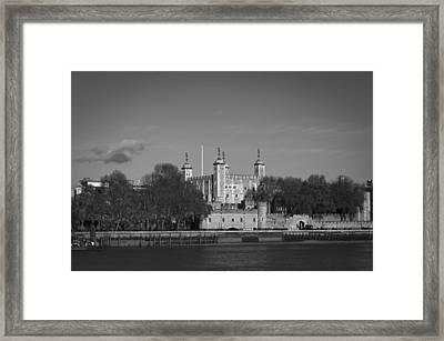 Tower Of London Riverside Framed Print by Gary Eason