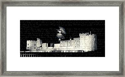 Tower Of London With Letter From Anne Boleyn Framed Print