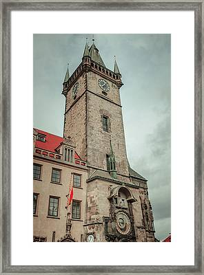 Tower Of Old Town Hall In Prague Framed Print