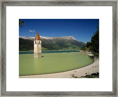 Framed Print featuring the photograph Tower Of Resia by Sascha Meyer