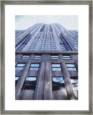 Tower Of Steel And Stone Framed Print by Jeff Kolker