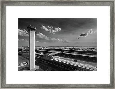 Tower O'hare Airport Framed Print