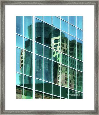 Framed Print featuring the photograph Tower Reflections # 2 by Mel Steinhauer