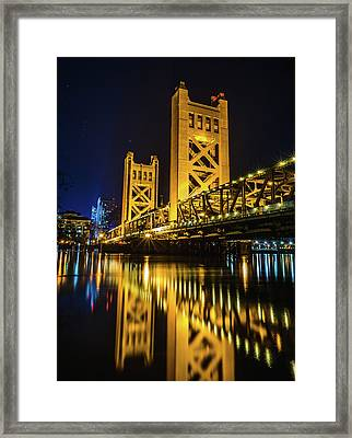 Tower Reflections Framed Print