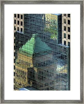 Tower Reflections Framed Print by Mel Steinhauer