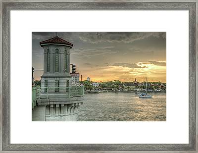 Tower Sunset Framed Print