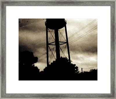 Tower With Intersecting Lines II Framed Print by Stephen Hawks