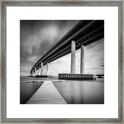 Framed Print featuring the photograph Towering Bridge by Gary Gillette