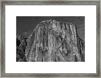 Towering El Capitan In Black And White Framed Print by Garry Gay